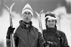 Prinzessin Diana und Prinz Charles beim offiziellen Fototermin in Klosters, wo sie ihren Skiurlaub verbringen. (Bild: Keystone (Klosters, 6. Februar 1996))