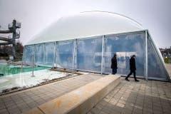 Im Sommer tummeln sich im Seebad Tausende Sonnenhungrige - jetzt wird das Bad auch im Winter genutzt. (Bild: Reto Martin)