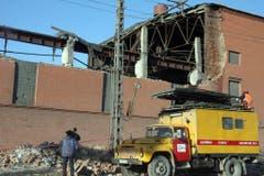 Blick auf die demolierte Zinkfabrik. (Bild: Keystone)