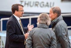 Stadtammann David H. Bon im Gespräch mit Besuchern. (Bild: Reto Martin)