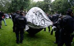 G20-Gipfel - Camp-Räumung (Bild: Keystone)