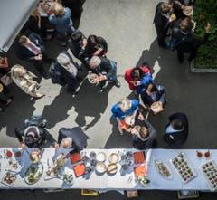 Zwischenverpflegung am Symposium St.Gallen 2015. (Bild: Urs Bucher)