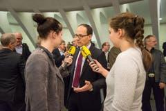 Marc Mächler ist nach seiner Wahl ein gefragter Mann. (Bild: Michel Canonica)