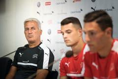 PK und Training Schweiz. Nationalmannschaft (Bild: Michel Canonica)