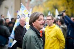 Mit von der Partie: Paul Rechsteiner, Präsident der Gewerkschaft Unia. (Bild: Michel Canonica)
