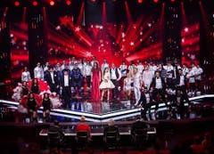 Ein Gruppenbild mit allen Finalteilnehmern. (Bild: Mirco Rederlechner (SRF))