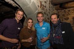 Von links nach rechts: Nicolas Senn, Lina Button, Reto Scherrer, Florian Rexer. (Bild: Andrea Stalder)