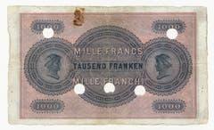 Die Serie wurde per 1. Juli 1925 zurückgerufen, am 1. Juli 1945 wurden die Noten wertlos. (Bild: Archiv der SNB)