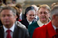 Zahlreiche Besucherinnen und Besucher kamen zum Auftakt des Jubiläums «1400 Jahre Gallus». (Bild: Benjamin Manser)