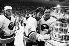 Die erste Mannschaft mit Playoff-Bart waren die New York Islanders in der NHL. 1980 holten sie den ersten Stanley Cup der Clubgeschichte. (Bild: Keystone)
