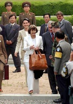 An der Demarkationslinie zwischen Nord- und Südkorea im Frühling 2003. (Bild: Keystone)