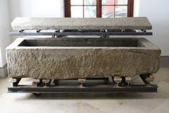 Der konservierte Sarkophag im Historischen und Völkerkundemuseum. (Bild: pd)
