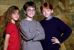 Die 10-jährige Emma Watson zusammen mit Daniel Radcliffe, (Harry Potter) und Rupert Grint. (Bild: Keystone)