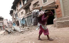 Powerful earthquake hits Nepal (Bild: Keystone)