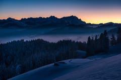Das Alpsteinmassiv, vom St.Anton aus gesehen. (Bild: Cyrill Schlauri)