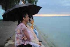 Romantische Stimmung am Arboner Seeufer. (Bild: Stefan Beusch)