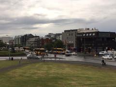 """Die Sicht auf das """"Downtown"""" von Reykjavik. (Bild: Marion Loher)"""