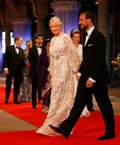 Norwegens Kronprinz Haakon mit seiner Ehefrau Mette-Marit. (Bild: Keystone)