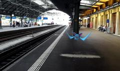 Ein wildes Zubat auf Gleis 1 am Bahnhof St.Gallen. (Bild: Screenshot)