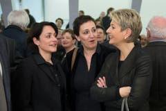 FDP-Frauen unter sich: Kantonsrätin Isabel Schorer (links) und Ständerätin Karin Keller-Sutter (rechts). (Bild: Urs Bucher)