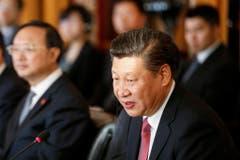 Xi Jinping während seiner Rede. (Bild: Keystone)