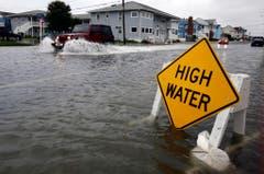 Starker Regen als Vorbote an der US-Ostküste. (Bild: Keystone)