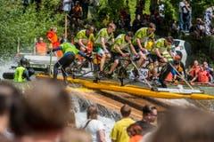 Sitterdorf/Bischofszell TG - Impressionen vom Flossrennen 2015 auf der Thur und der Sitter. (Bild: Reto Martin)