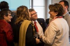 Kaspar Schläpfer (Mitte) stand nicht mehr zur Wahl. SP-Frau Cornelia Komposch macht das Schlusslicht. (Bild: Reto Martin)