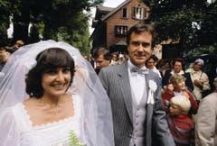 Hochzeit auf dem Bürgenstock am 3. September 1980. (Bild: Keystone)