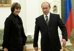 Zu Besuch im Kreml bei Vladimir Putin. (Bild: Keystone)