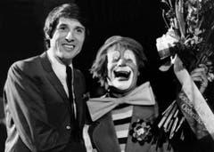 Jüngling Udo Jürgens am 14. Mai 1968 im Zirkus Knie. (Bild: Keystone)