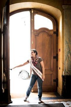 Für die Thurgauer Apfelkönigin geht in diesem Jahr eine neue Türe auf. (Bild: Benjamin Manser)