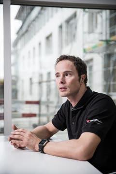Marcel Hug während eines Interviews in Nottwil. (Bild: Manuela Jans- Koch)