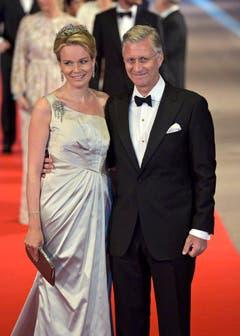 Der belgische Prinz Philippe mit seiner Gattin Mathilde. (Bild: Keystone)