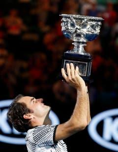 King Federer gewinnt die Australian Open. (Bild: Keystone)
