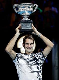 2017 Australian Open gegen Rafael Nadal 6:4, 3:6, 6:1, 3:6, 6:3 (Bild: Mark R. Cristiano / Keystone)