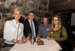Von links nach rechts: Jasmin Meister, Werner Meister, Erwin Bischof, Jolanda Eichenberger. (Bild: Andrea Stalder)