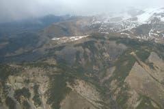 In diesem Gebiet ist die Germanwings-Maschine am Dienstagvormittag zerschellt. (Bild: Keystone)