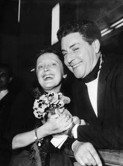 Die Piaf mit Jacques Pills, ihrem Ehemann von 1952 bis 1956. (Bild: Keystone)