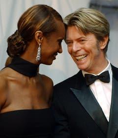 Grosse Liebe: Mit dem ehemaligen äthiopischen Topmodel Iman war David Bowie seit 1992 verheiratet. Das Paar hat eine gemeinsame Tochter. (Bild: Keystone)
