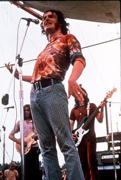 Legendärer Auftritt: Joe Cocker beim Woodstock-Festival im Jahr 1969. Die für ihn so typische Gestik ist schon deutlich erkennbar. (Bild: Keystone)