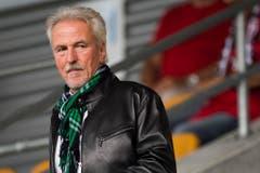 """""""Wir haben aus sportlichen, aber auch aus wirtschaftlichen Gründen gehandelt."""" St.Gallens damaliger Präsident Dölf Früh am 4. Mai nach der Entlassung von Zinnbauer. (Bild: Keystone)"""