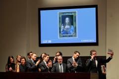 450,3 Mio (2017): Leonardo da Vinci - «Salvator Mundi» (Auktion). (Bild: Julie Jacobson (AP))