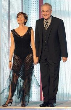 Im Oktober 2007 war das Ehepaar Felix in der Show «Wetten, dass..?» zu Gast. (Bild: Keystone)