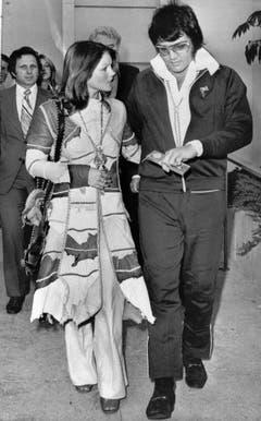 1973 wird die Ehe geschieden. Priscilla soll damals 1,5 Millionen Dollar erhalten haben. (Bild: Keystone)