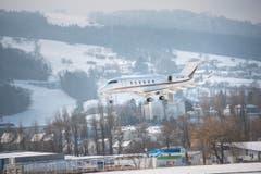Altenrhein - Flughafen Flugplatz Altenrhein Hohes Verkehrsaufkommen wegen WEF in Davos Zusätzlich ca. 330 Flugzeuge Privatjets (Bild: Ralph Ribi)