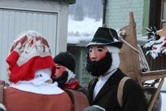 Urchiges Silvesterchlausen. (Bild: Patrik Kobler)