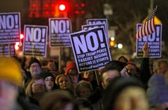 TRUMP INAGURATION NYC PROTEST (Bild: Keystone)