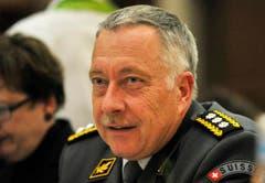Armeechef André Blattmann kam ebenfalls zu Walters Feier in Wängi. (Bild: Reto Martin)