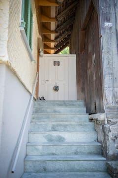 Der Eingang zum Haus. (Bild: Urs Bucher)